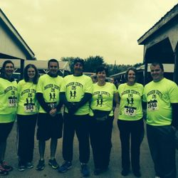 Madison County EMD Running Team at the 2014 Rockin' on the Run 5k.