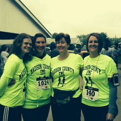 Lades of the Madison County EMD Running Team at the 2014 Rockin' on the Run 5k.