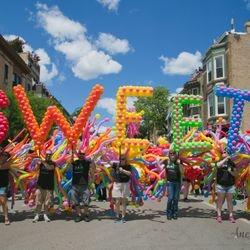 Walking Balloon Float Chicago Pride Parade 2017