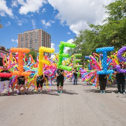 Walking Balloon Float Chicago Pride Parade 2107