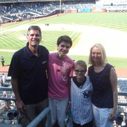 With the family at Yankee Stadium for a magical day!
