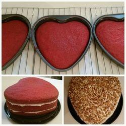 Maryetta's Heart Velvet Cake w/Cream Cheese Icing $32.10