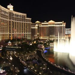 Photo of the Dancing fountains at the Bellagio
