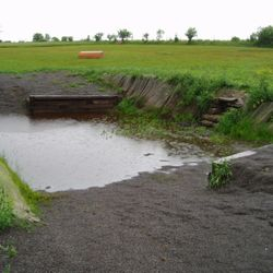 Water jump in our cross country field