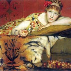 A craving for cherries by Alma-Tadema