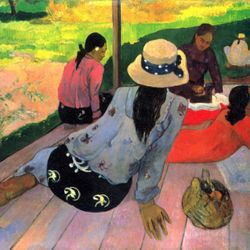 Afternoon Quiet Hour by Gauguin