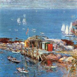 Afternoon in August, Appledore by Hassam
