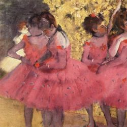 Dancers in pink by Degas