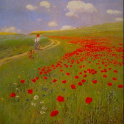 Field of Poppies by Merse