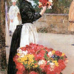 Flower girl by Hassam