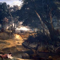 Forest of Fontainebleau by Corot