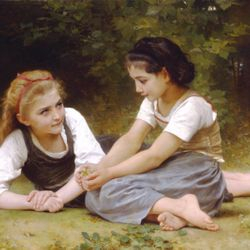 The Nut Gatherers by Bouguereau