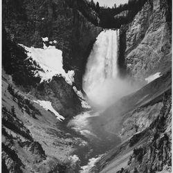 Yellow Stone Falls by Ansel Adams