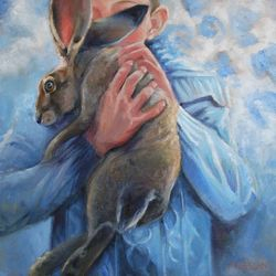 """Oil Painting by G. Freeborn 18x18 Love Story Series """"Confidante"""""""