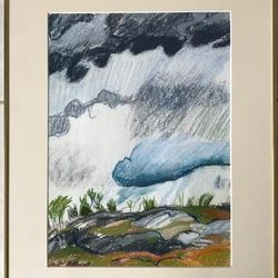 """Marnie Cobb donated her 15x20 Framed Painting """"Changing Sky"""""""
