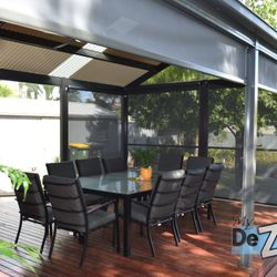 LYSAGHT Living Collection deck and Ziptrak Blinds