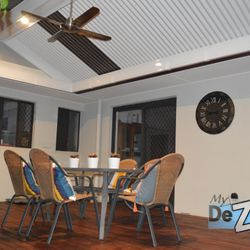 LYSAGHT Living Collection and Hardwood Deck lights and fan