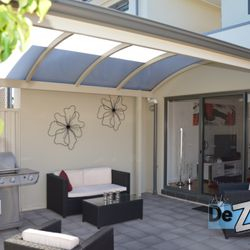 Custom Designed Curved Roof Verandah