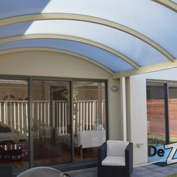 Custom Designed Curved Steel Verandah