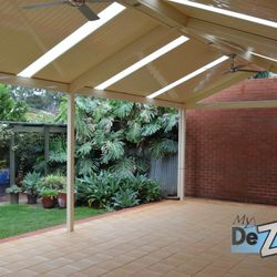 LYSAGHT Living Collection Gable Roof Verandah using Flatdek Roof Sheets
