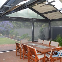 LYSAGHT Living Collection Verandah and Ziptrak Blinds