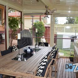 LYSAGHT Living Collection Skillion Verandah Deck & Blinds