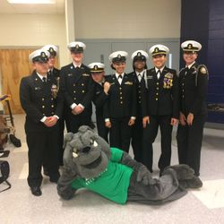 On Tuesday February 5 cadets performed a color guard at Harrison High school for the rising ninth graders open house.
