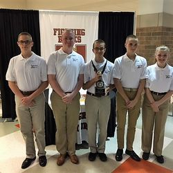 The Brain Brawl team; Cadets King B., Fowler, Bowman, King P. & Powell at their seasons first competition, Saturday 18 November at Hillgrove High School where they placed 1st Place.