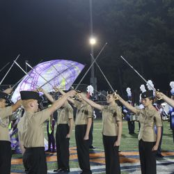The Honor Guard for the Homecoming Court