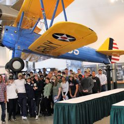 Cadets visit the National Museum of the Mighty Eighth Air Force, in Pooler, Georgia 24 Oct 2017.
