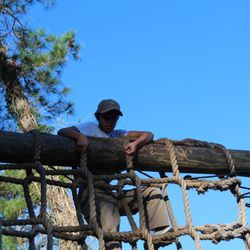Mica Similing attempts to negotiate an obstacle at the confidence course during BLT at Parris Island, SC 24-27 Oct 2017.