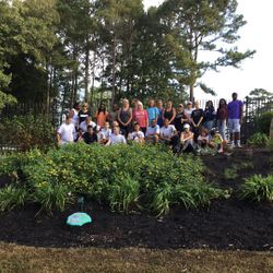Cadets at the Butterfly Garden in Memory of Ashley Bratton
