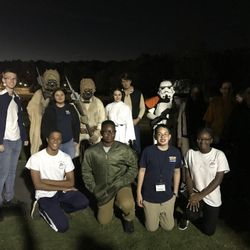 Cadets at the Movie In the Park at Swift Cantrell Park on Saturday 13 October 2019
