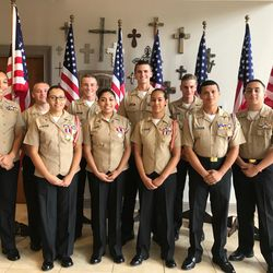 North Cobb-Harrison Cadets support Burnt Hickory Church at it's annual Military Appreciation Ceremony, 2 July 2017.