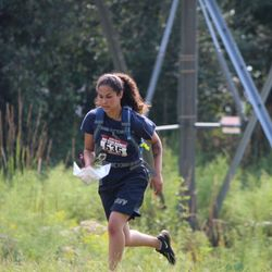 Cadet Miranda at the Mountain Madness Orienteering Meet