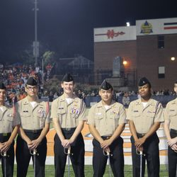 The Honor Guard at the NC vs Kennesaw Mtn Homecoming Football Game
