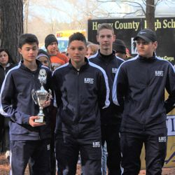 The Orienteering Team competed at this year's Area-12 Championship this past Saturday, 3 February at Chattahoochee Bend State Park. Cadets Sean Murphy, Ethan Fowler, Timmy McKinster, and Matheus Lago placed 5th overall on the yellow corse during the competition.