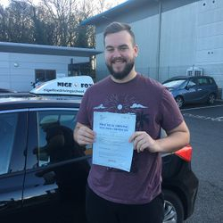 Brendan Passed 1st Time.