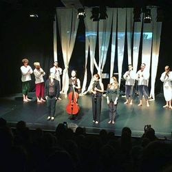 Applause after the world premiere of Invisible Effect, Pleasance Theatre, September 2018