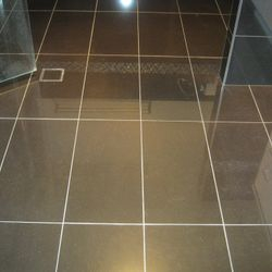 Porcelain Tile Clean and Buff.