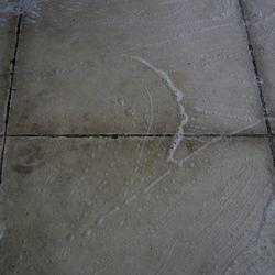 Heavily soiled out tiles.