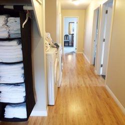 Hallway to dorm rooms