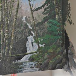Hiker Mural