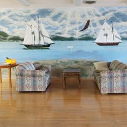 Sailboat Mural in main lounge