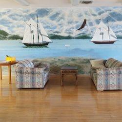 Sailboat Mural in main lounge