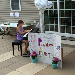 Our annual end-of-summer piano party includes an outdoor recital!