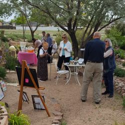 Art Show reception held in  The Grove