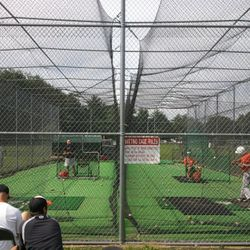 75' x 25' turfed Double Batting Cages