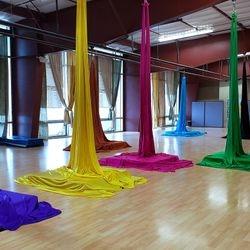 Aerial Silks studio at Performance Athletics Gymnastics