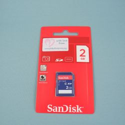 A memory card to be used with the Maternity camera.